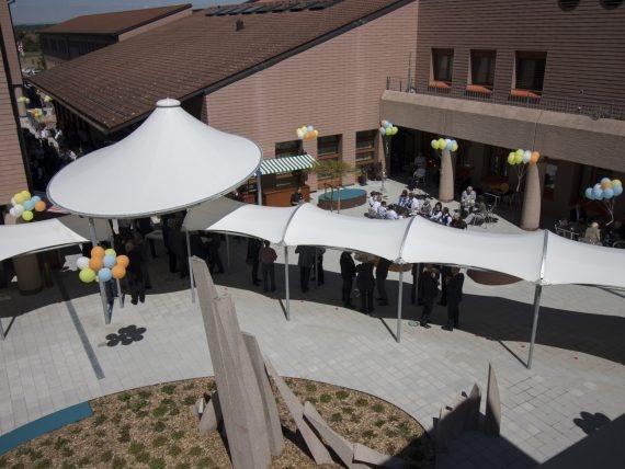das Eidgenössische Ausbildungszentrum EAZS in Schwarzenburg aus der Vogelperspektive.