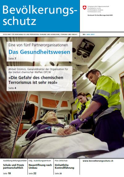 Cover der 28. Ausgabe der Bevölkerungsschutz-Zeitschrift