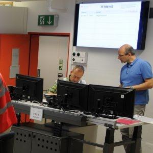 Due collaboratori del settore Sistemi d'intervento al lavoro