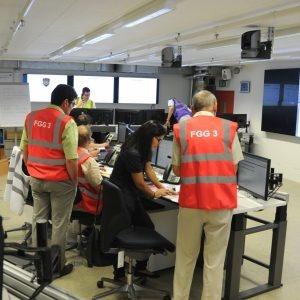 Le Groupe Opérations en réunion avec le Groupe Coopération internationale