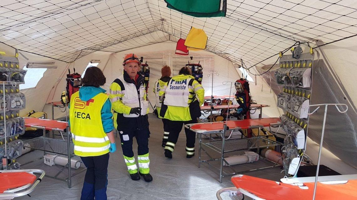 Insgesamt waren rund zehn verschiedene Interventionskräfte mit rund 300 Personen an der Übung beteiligt