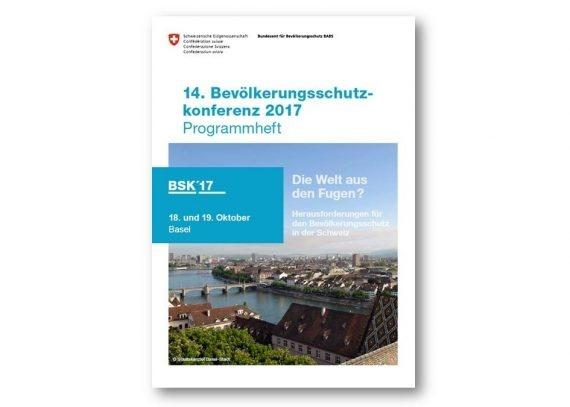 Titelseite Programm Bevölkerungsschutzkonferenz 2017