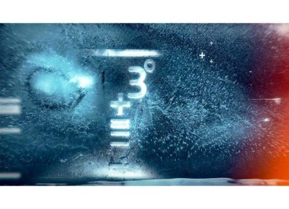 Bild zeigt Gleichung mit +3 Grad.