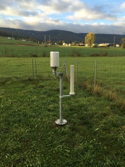 La station de mesure de Delémont équipée de la nouvelle sonde NADAM