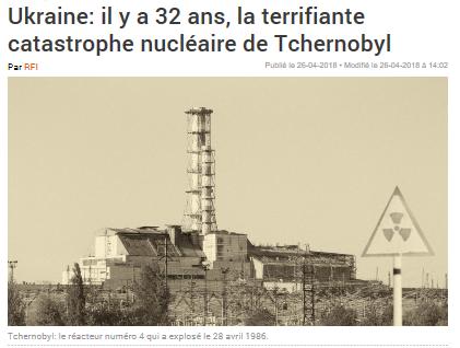 Contribution des médias à l'accident du réacteur de Tchernobyl il y a 32 ans
