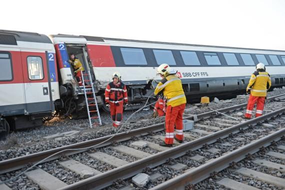 Bergungsarbeiten der Feuerwehr