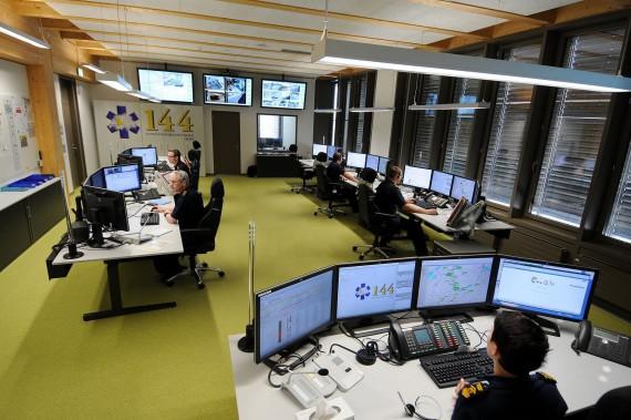 La centrale d'appels d'urgence de Berne
