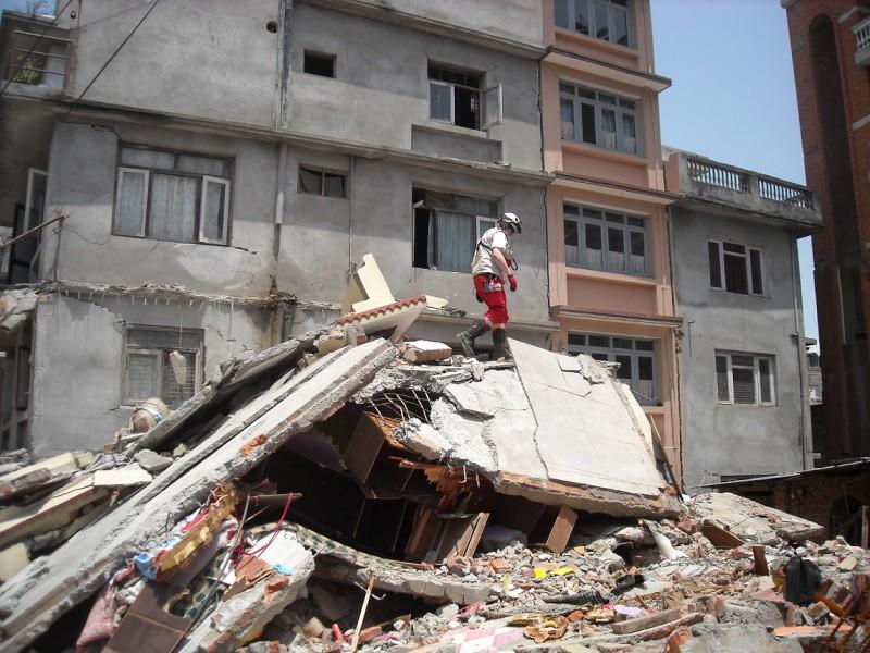 Öffnen einer Betonplatte in Kathmandu