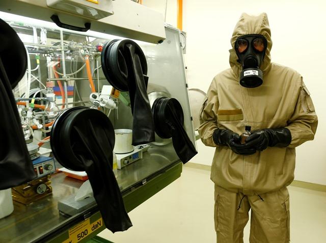 Die Vision des Labor Spiez: Eine Welt ohne Massenvernichtungswaffen.