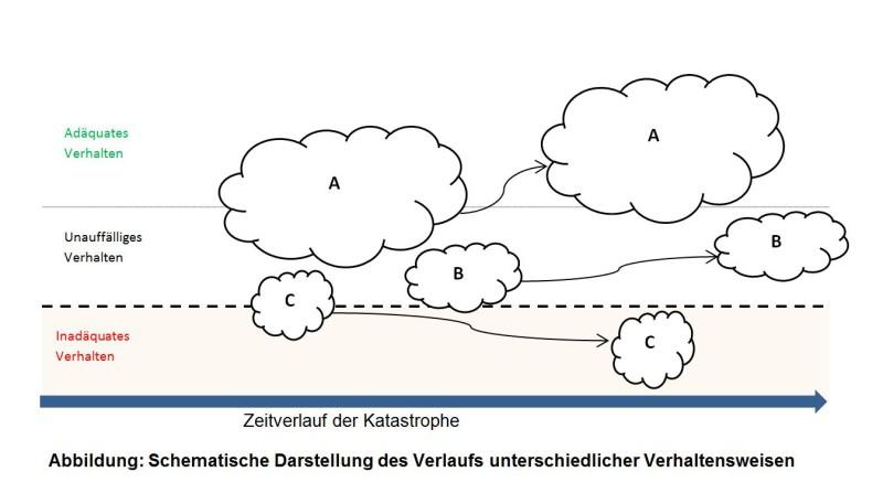 Schematische Darstellung des Verlaufs unterschiedlicher Verhaltensweisen.