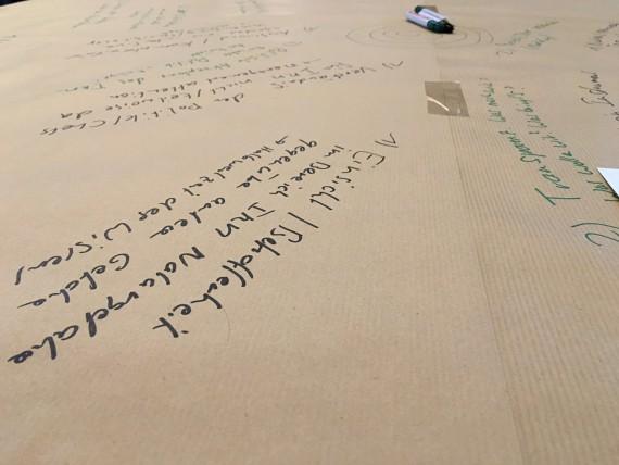 Brainstorming auf dem Tisch