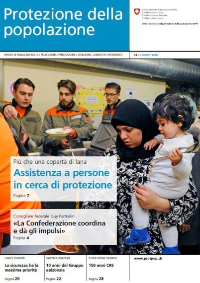 """Rivista """"Protezione della popolazione"""" - Assistenza a persone in cerca di protezione."""