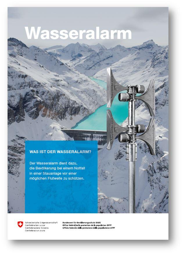 Ein Click auf das Bild führt Sie zum Flyer Wasseralarm. Er enthält weitere Informationen zum Wasseralarm.