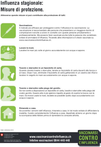 Factsheet Vaccinarsi contro l'influenza