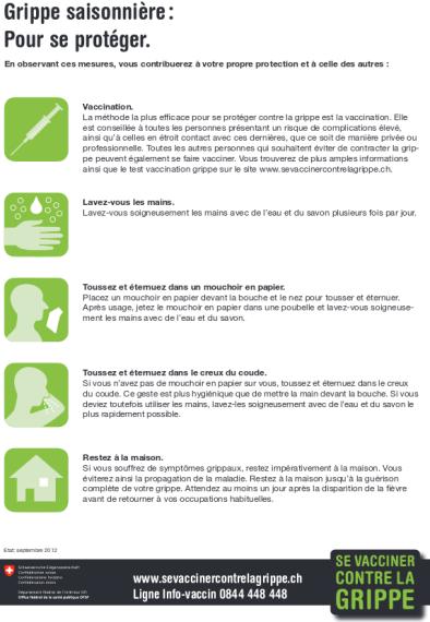 Factsheet Se vacciner contre la grippe
