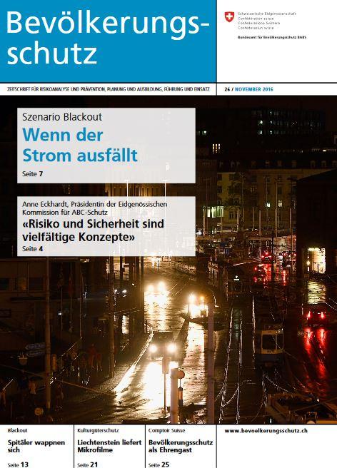 Die Titelseite der Zeitschrift Bevölkerungsschutz, aus dem dieser Artikel ursprünglich stammt. Ein Click auf das Bild führt Sie zum PDF der Zeitschrift.