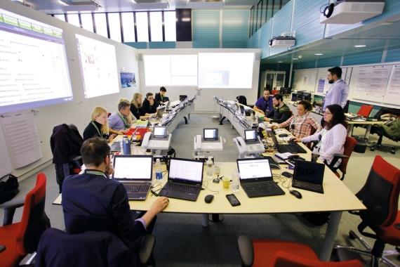 Das #SID24-Team, bestehend aus rund 20 Mitarbeitern, an ihrem heutigen Arbeitsplatz.